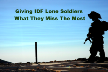 Give Lone Soldiers The One Thing They Miss Most